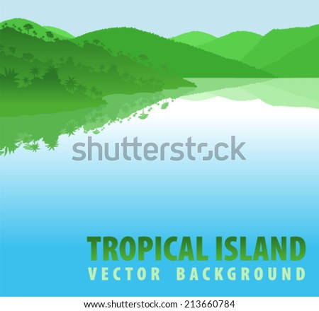 vector tropical jungle island