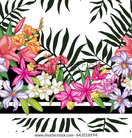 vector tropical leaves and