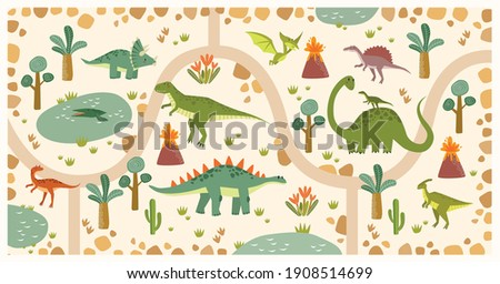 vector tropical maze with