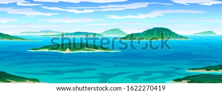 vector tropical ocean landscape