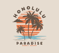 vector tropical palm tree illustration for t shirts print