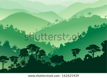 vector tropical rainforest