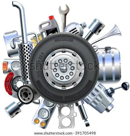 vector truck spares concept