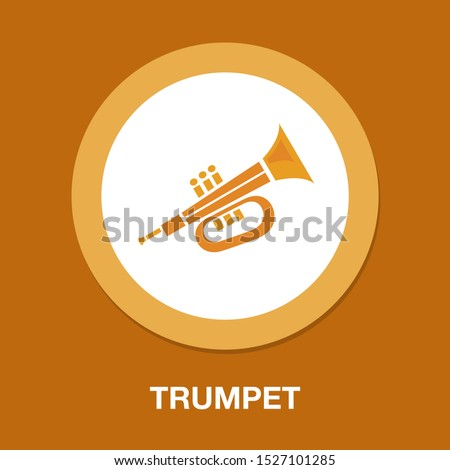 vector trumpet illustration - music instrument isolated, musical equipment symbol