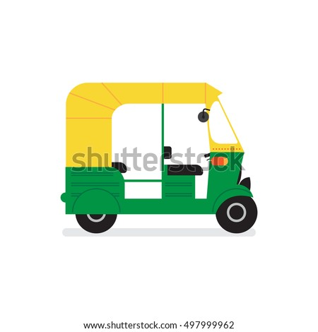 Shutterstock vector tuk-tuk. indian auto rickshaw concept. delhi auto. minimal design. vector illustration. eps10.