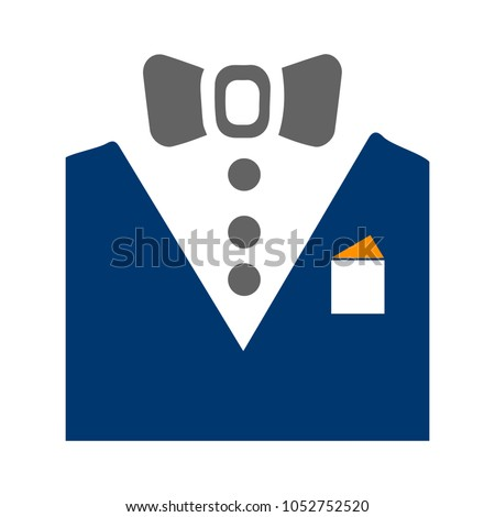 vector tuxedo - wedding suit, fashion design illustration