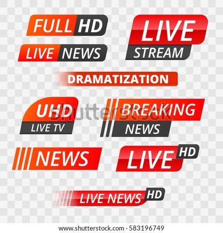 vector tv news banner interface