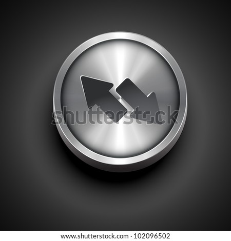 vector two arrow metallic icon design