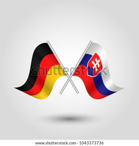 vector two crossed german and