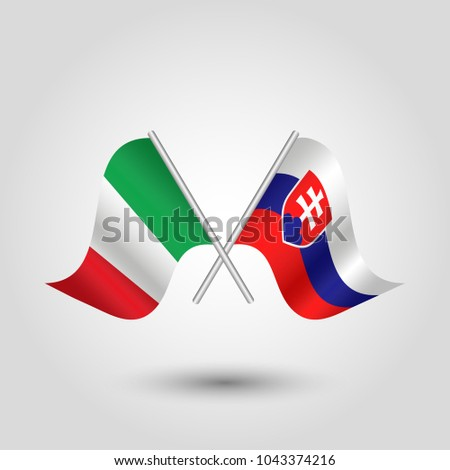 vector two crossed italian and