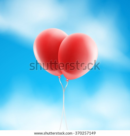 stock-vector-vector-two-red-balloons-in-