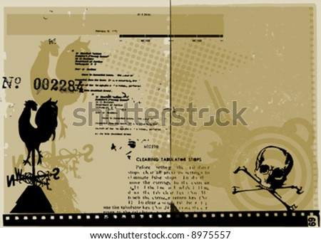 vector typographic background - stock vector