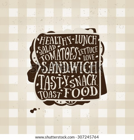 vector typography poster with