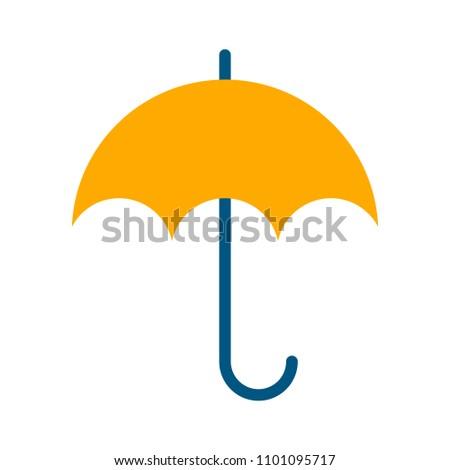 vector umbrella symbol, rain protection illustration - protect concept