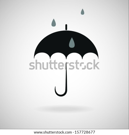 vector umbrella with rain drops