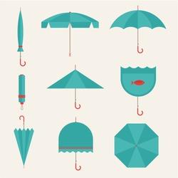 Vector umbrellas