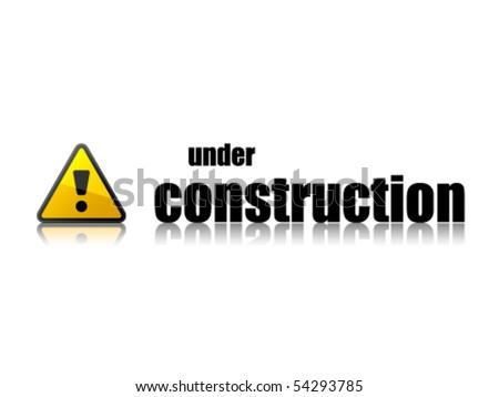 vector under construction template - stock vector