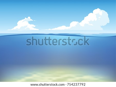 vector underwater and above