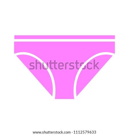 vector underwear template, design fashion illustration - pants symbol
