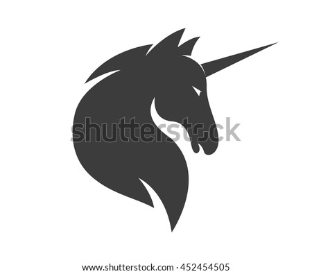 vector unicorn or horse logo