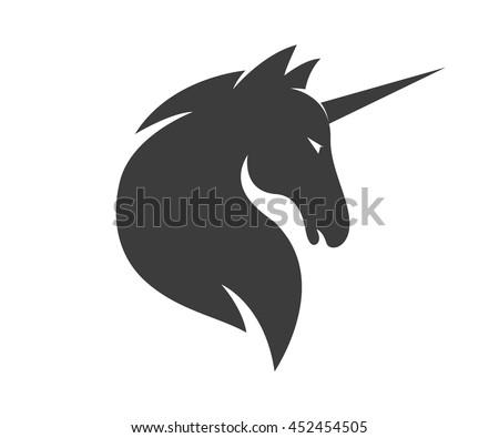 vector unicorn or horse logo