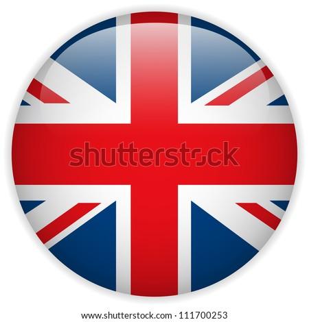 Vector - United Kingdom Flag Glossy Button