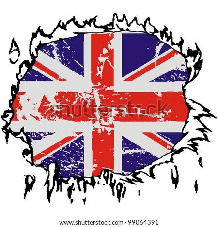 vector United kingdom grunge