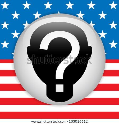 Vector - United States Election Vote Button.