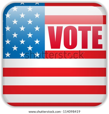 Vector - United States Election Vote Button.