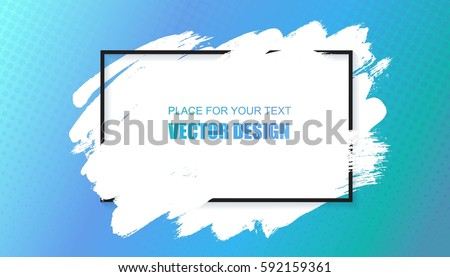 Vector universal background, banner with frame and place for text. Hand drawn grunge texture and modern colorful wallpaper.