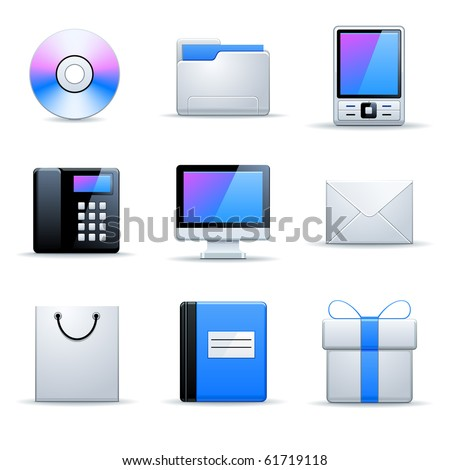 Vector universal website icons