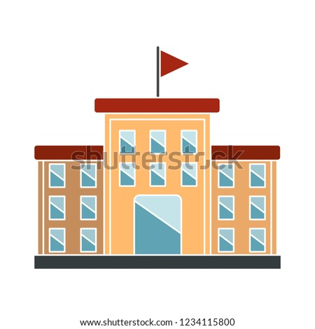 vector university building isolated icon - museum illustration sign . architectural sign symbol