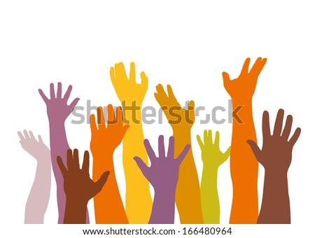 vector up hands