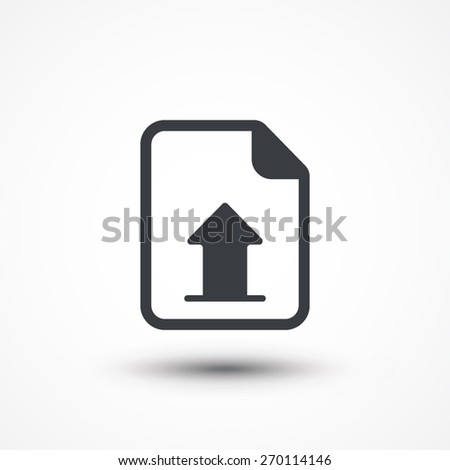 Vector Upload File Icon. Document report upload. Vector download button. New project
