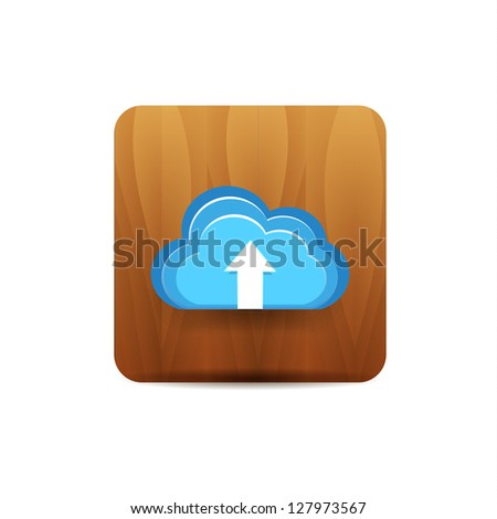 Vector upload to cloud icon
