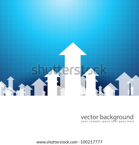 vector upside growing arrow design illustration