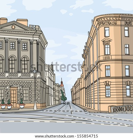 vector urban landscape  the
