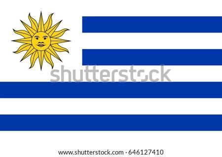 Shutterstock Vector Uruguay  flag, Uruguay flag illustration, Uruguay  flag picture, Uruguay  flag image