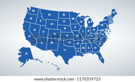 United States Map Vector - Download Free Vector Art, Stock Graphics ...