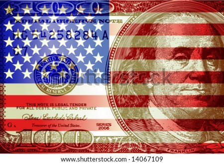Vector USA flag & dollar