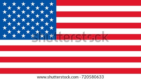 Vector USA flag flagpoles, sizes, proportions. USA flag according to Executive Order 10834 flag standard. United States of America official federal original flag with all proportions
