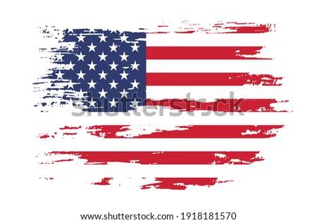 Vector USA flag.Grunge flag of United States.