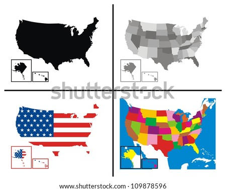 Vector - USA Maps Collection