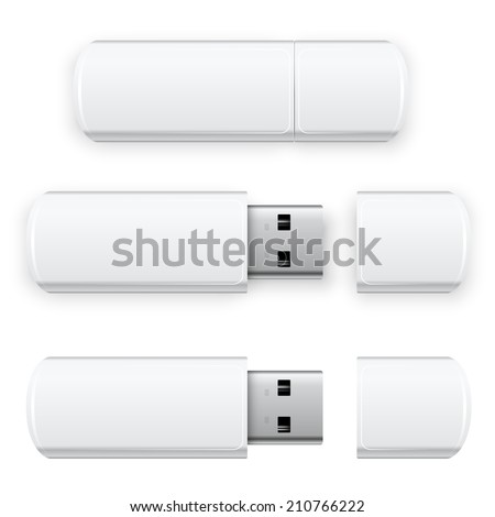 Vector USB Flash Drive isolated on white background Stock photo ©