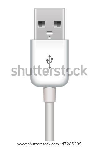 vector usb plug