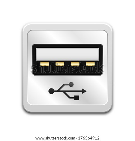 vector usb socket icon