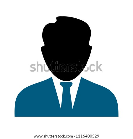 vector user icon, avatar silhouette, social symbol - member sign
