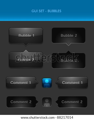 Vector User Interface Elements - Chat Bubbles