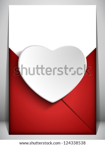 Vector - Valentine Day Heart Letter Love - stock vector