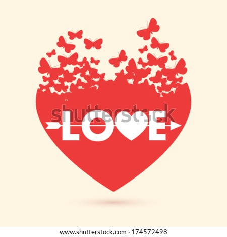 vector valentine heart with